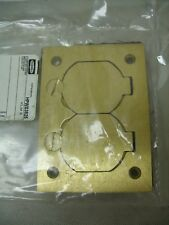 HUBBELL - KLM2 Brass Floor Box Cover w/ Duplex Flap Lift Lid's ~ HPWS3825 *NOS*