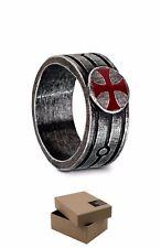 LARGE SIZE - Assassins Creed Templar Ring with ORIGINAL BOX - Origins xz