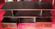 TV cabinet in TEAK Solid wood Wenge cm120x45x50 (MAX) ethnic 2 drawers madi