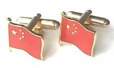 (N240) Gift Boxed China Enamel Crested Cufflinks