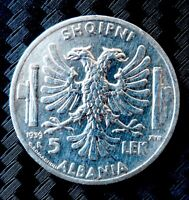 Moneta 5 Lek Albania Vittorio Emanuele III    ( A008 )