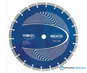 Mexco GPX10 Range  Diamond Cutting Disc General Use 300mm -  20mm Bore Twin Pack