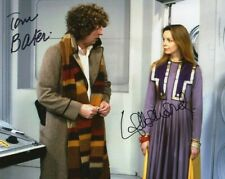 More details for doctor who autograph: tom baker & lalla ward (destiny of the dalek) signed photo