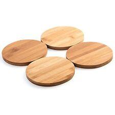Bamboo Coaster Set - Set of 4 Coasters of 11 cm diameter