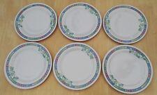 Set of 6 Melamine Side Starter Dessert Plates 20cm Light Camping Caravan Plastic
