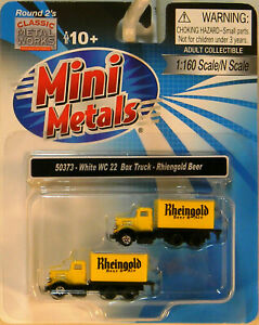NEW N CMW 50373 White WC22 Box Truck Rheingold Beer