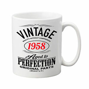 Personalised Ceramic Mug - Vintage Design - With any year of your choice