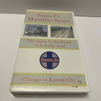 Santa Fe Mainline Series Chicago To Kansas City Railroad Vhs Trains