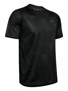 UNDER ARMOUR Mens Black Logo Graphic Short Sleeve T-Shirt S