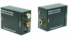 Digital a Analogico CONVERTITORE AUDIO + 2x cavi 1,5m (Cinch, Toslink) #usb-dc-da3-ms