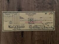 WALT DISNEY AUTOGRAPH SIGNED CHECKS REPRINT REPLICA DISPLAY REPRODUCTION