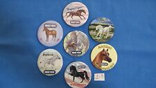 7 Breyer Horses Collector Pins Buttons All Different MINT Free Shipping