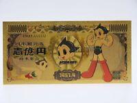 Billet Astro Boy le petit robot - Carte Gold Osamu Tezuka / 24K Yen Japonnais