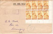 Northern Rhodesia ROYAL SILVER WEDDING ISSUE-SG#48(corner block of 8)