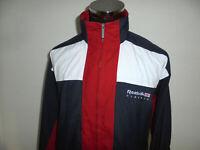 vintage 80s REEBOK Jacke Sportjacke polyester trainingsjacke oldschool classic L