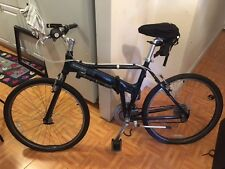 Deep Blue Dahon Expresso Folding Bicycle, Road Bike ONLY USED ONCE With Gel seat