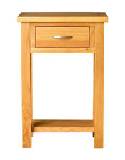 Roseland Furniture Telephone Table - Light Lacquered Oak