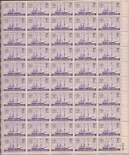 US Stamp 1944 Steamship 50 Stamp Sheet Scott #923 VF MNH