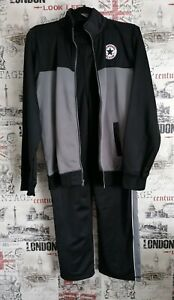 Boys Converse Black Grey Straight Leg Tracksuit Size XL 13-15 Yrs (150 - 178 cm)