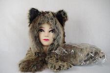 Animal winter hat faux fur