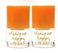 Clinique *HAPPY TO BE* Perfume Spray .14 oz/ 4 ml X 2 = .28oz total Brand New