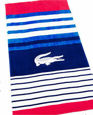 "LACOSTE Towel REGATE 36"" x 72"" New With Tag Red Beach Towel"