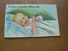 Old Comic Postcard: Baby, No Home is Complete Without One