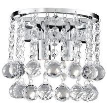 Searchlight 2402-2CC Hanna Chrome 2 Light Wall Bracket Clear Crystal Spheres