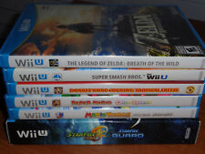 Lot 6 Wii U GAMES The Legend of Zelda BOTW, Paper Mario, Smash Bros, Donkey Kong