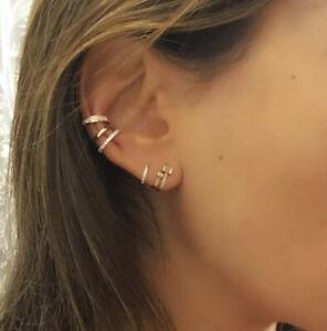 Gold & diamond Ear Cuff / Gorgeous Ear Cuff  14k   Yellow Gold
