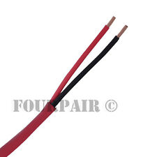 18/2 Fire Alarm Audio Wire Cable 2 Conductor 18 Awg Fplr Riser - Red - 1000ft
