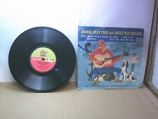 """Old 7"""" Children's 78 RPM Record - Golden S 139 - Animal Play Time with Uncle Win"""