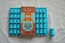 Premium Silicone Bear Mold Candy or Gummy Tray 2 Pack with FREE Dropper BPA FREE