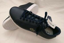 LACOSTE ORTHOLITE BLUE LEATHER SNEAKERS, SIZE 10