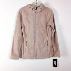 New Balance Hoodie Women Small Soft Full Zip Jacket NWT Beige Fleece