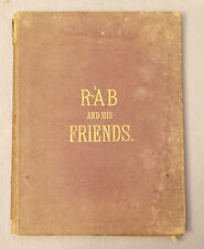 Antique RAB AND HIS FRIENDS by John Brown FIVE ENGRAVINGS Hardcover