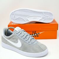 Nike Bruin Low Suede Skateboard Basketball Shoes Wolf Grey White 845056-002 sb