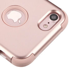 FOR IPHONE 8 / 7 | ROSE GOLD 3PCS SHOCKPROOF CASE TUFF RUGGED COVER