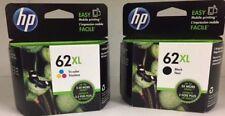 HP Genuine 62XL B/C Ink Cartridges HP ENVY 5540,5643,5542,5544,5545