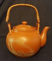 Vintage Japanese tea pot with infuser pottery Japan
