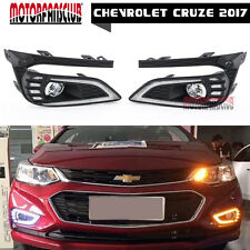 US-- For Chevrolet Cruze 2017 LED DRL Daytime Running Lights W/ Signal Newest
