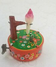 Vintage YONE Japan Tin Wind-Up Bobbing Parrot Toy VG Excellent Condition Working