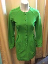 NWT Zac Posen Z Spoke Apple Green Long Sleeve Dress Front Pocket Size S