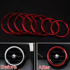 7Pcs Air Condition Vent Outlet Ring Decor Cover Trim For Benz C Class W205 GLC