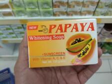 Papaya Soap Organic Herbal Face Nourishing Skin Whitening Sunscreen Halal 135g