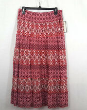 Dana Buchman Womens Skirt Size M Red Boho Lined