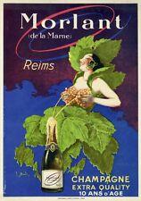 """""""MORLAND""""Affiche d'intérieur originale entoilée Litho vers 1925 J. STALL 29x40cm"""
