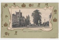 Bristol Cathedral & Queens Statue 1926 U/B Tuck Postcard 010a