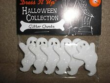 Prepackaged GLITTER GHOSTS by Dress It Up Novelty Theme Buttons/All Crafts