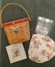 Longaberger 2001 Sweetheart Red Love Note Basket Combo